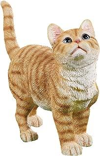 orange tabby cat statue