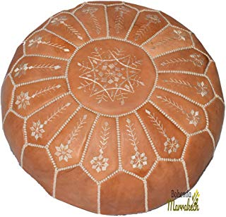 bohemiamarrakech Gris Pouf, Moroccan Pouf, Berber Pouf, Ottoman Pouf, Moroccan Ottoman, Leather Pouf,Pouf,Chairs,Living Room,Furniture- UNSTUFED