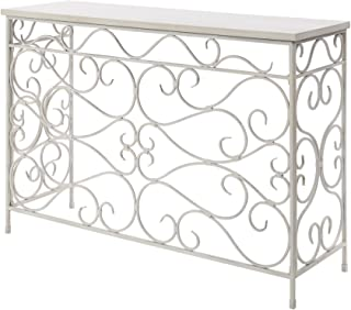Convenience Concepts Wyoming Metal and Wood Console, White