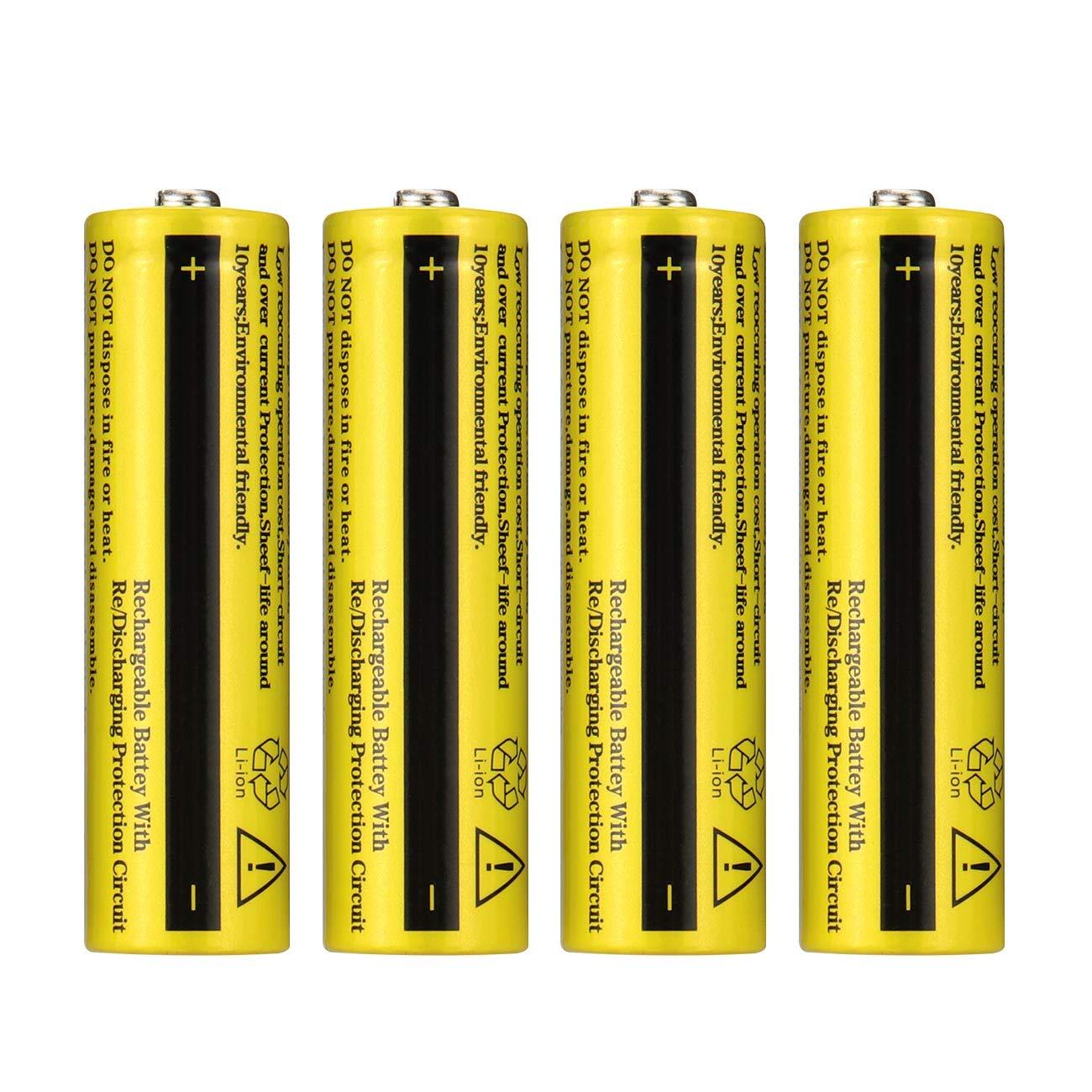 WolfonFire Rechargeable Flashlight Headlamp Batteries