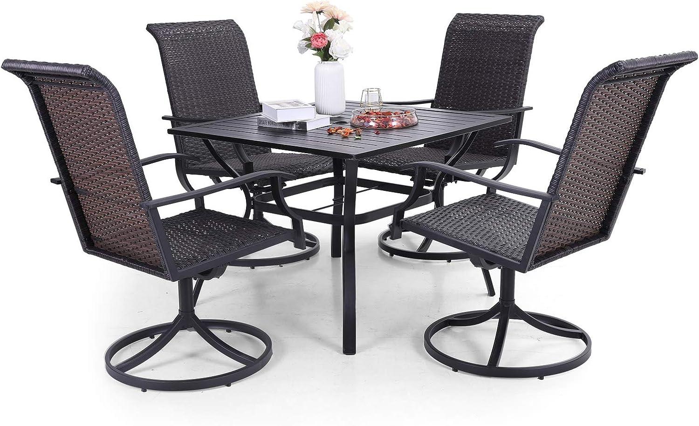 Buy Sophia & William Patio Dining Set 9 Pieces Metal Furniture Set ...