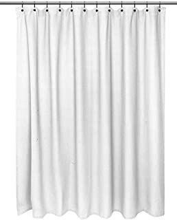 Hotel Quality Waffle Weave 100 Cotton Extra Long Shower Curtain