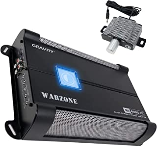 $319 » Gravity 8000.1D Class D Car Amplifier - 8000 Watts, 1 Ohm Stable, Digital, Monoblock, Mosfet Power Supply, Great for Subwo...