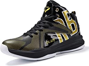 JMFCHI Kid's Basketball Shoes High-top Sports Shoes Sneakers Durable Lace-up Non-Slip Running Shoes Secure for Little Kids Big Kids and Adults