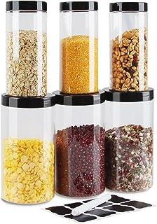 Bocaux Conservation Verre, Slime Kit,3PCS 1000ml & 3PCS 500ml Bocal en Verre,Bocal en Plastique,Bocal en Verre Herm Tique ...