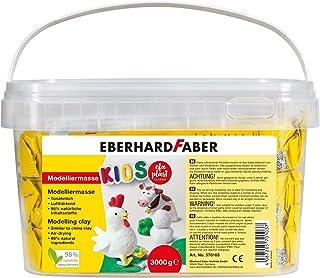 Eberhard Faber 570103 – masa modelarska 3 kg biała w praktycznym wiaderku, utwardzana powietrzem, podobna do gliny, kreaty...