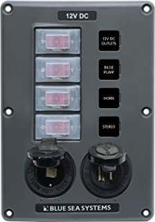 Blue Sea Systems 4321-BSS Circuit Breaker Switch Panel