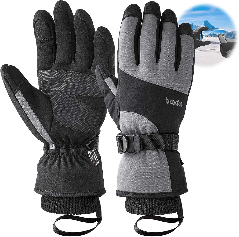 Ski gloves,Bizzliz Waterproof Winter Warm Gloves Snow Gloves Touch Screen for Outdoor Sport Men Women