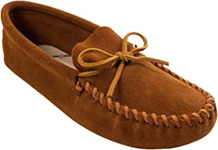 Minnetonka Men's Leather Laced Softsole Moccasin