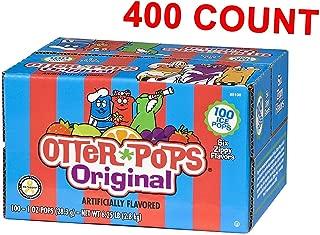 Otter Pops Ice Pops - Gluten & Fat Free Ice Pops, Delicious Frozen Treats Include Strawberry, Blue Raspberry, Grape, Lemon-Lime, Punch & Orange Flavors, 100Count of 1 oz. Pops (4-Pack)