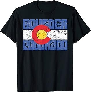 Boulder Colorado Hippie Retro CO State Flag Design T-Shirt