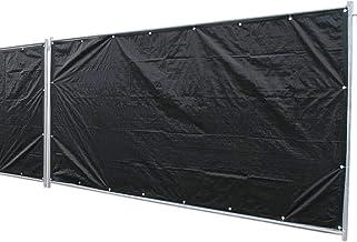 1,76 x 3,41m Bauzaunplane weiß 160g//m² Sichtschutz Bauzaun Zaunblende Windschutz