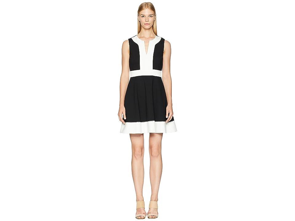 Kate Spade New York Color Block Ponte Dress (Black) Women