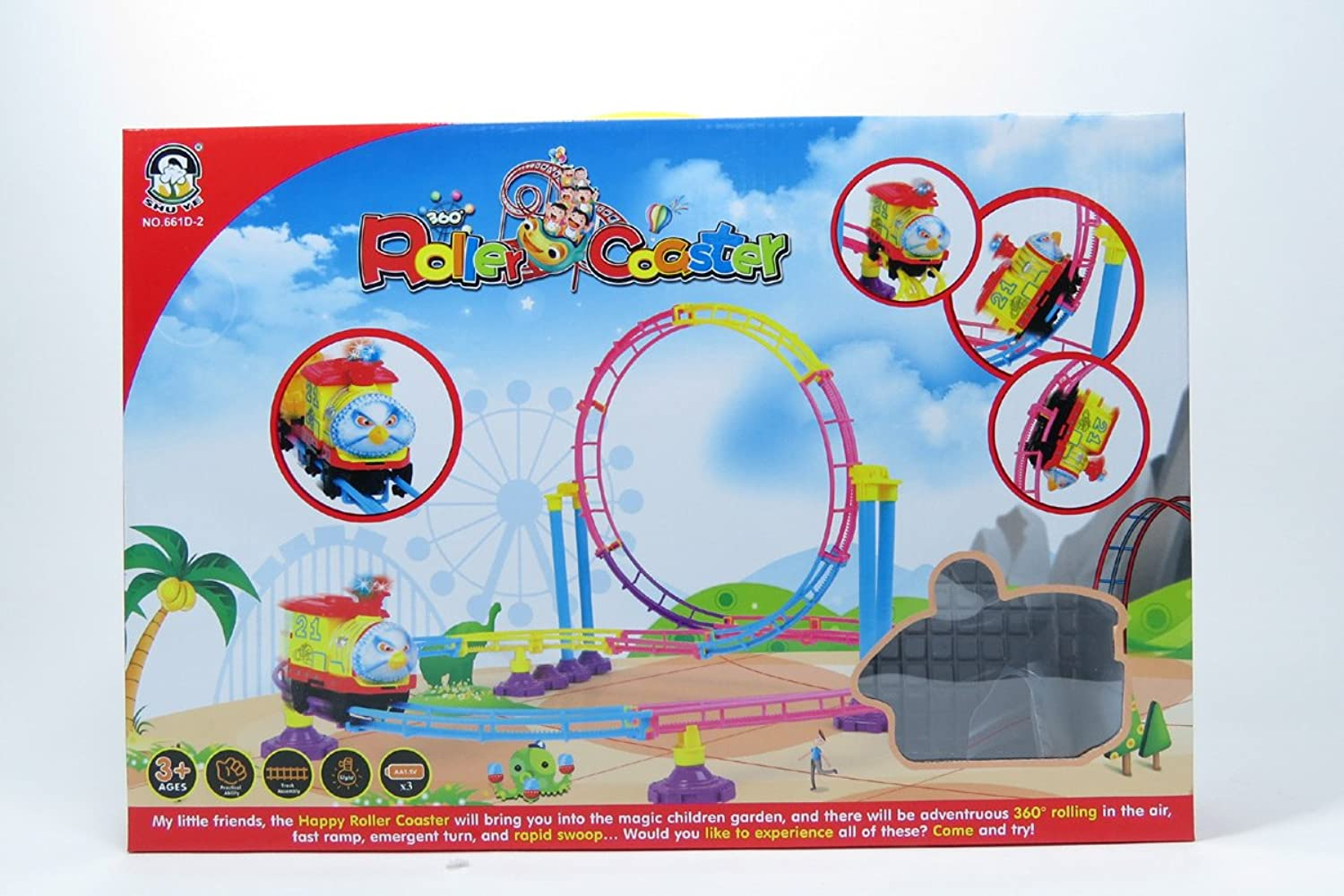 AZ Trading & Import RC61 Roller Coaster Toy (76 Pcs)