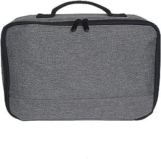 حقيبة التخزين المحمولة رمادية اللون من ديديل حقيبة حمل شاملة منظم أغراض أغراض لشاشات العرض والملحقات