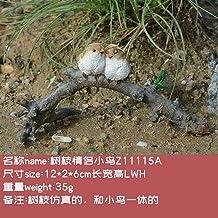 YAOHEHUA Beelden Voor Slaapkamer Creatieve Vogeldecoratie Leuke Simulatie Dierlijke Hars Blad Tuin Bonsai Decoratie-E