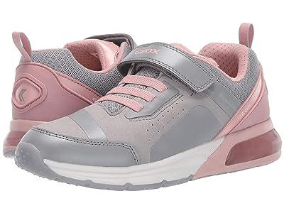 Geox Kids Jr Spaceclub 5 (Big Kid) (Grey/Pink) Girls Shoes