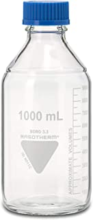 neolab 1 – 0198 Laboratorio botellas, Kimax Boro 3.3, gl45, azules Tapa enroscable, 1000 ml