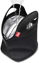 Waterproof Lunch Bag Double Layer Leakproof Neoprene Insulated Lunch Bag Freezable Black..