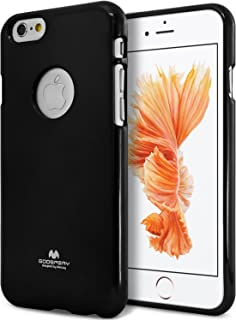 Goospery Pearl Jelly for Apple iPhone 6S Case (2015) iPhone 6 Case (2014) Slim Thin Rubber Case (Black) IP6-JEL-BLK