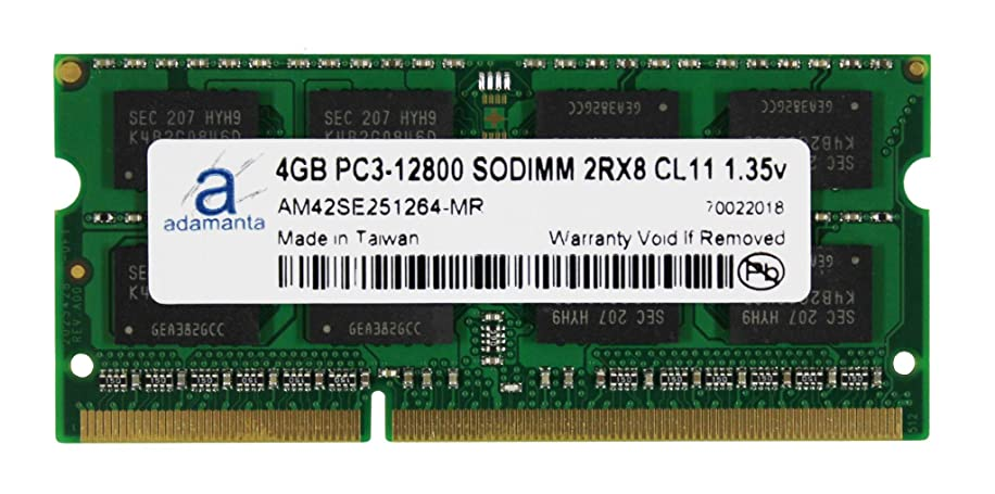 Adamanta 4GB (1x4GB) Laptop Memory Upgrade Compatible for Toshiba Satellite Radius P50W-BSTN22 DDR3L 1600Mhz PC3L-12800 SODIMM 2Rx8 CL11 1.35v Notebook RAM DRAM