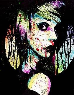Nervous Breakdown by Carissa Rose Rainbow Paint Emo Girl Tattoo Canvas Art Print