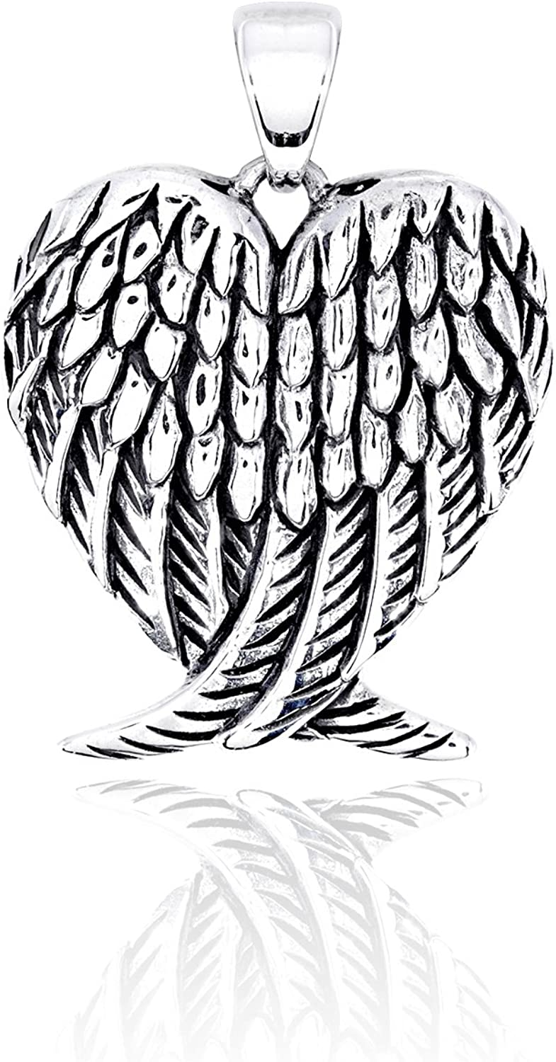 New sales WithLoveSilver 925 70% OFF Outlet Sterling Silver Charm Wings Pe Guardian Angel