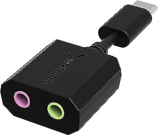 Sabrent USB Tipo-C Adaptador de Sonido estéreo Externo para Windows y Mac. Plug and Play. No se Necesitan Controladores. (AU-MMSC)