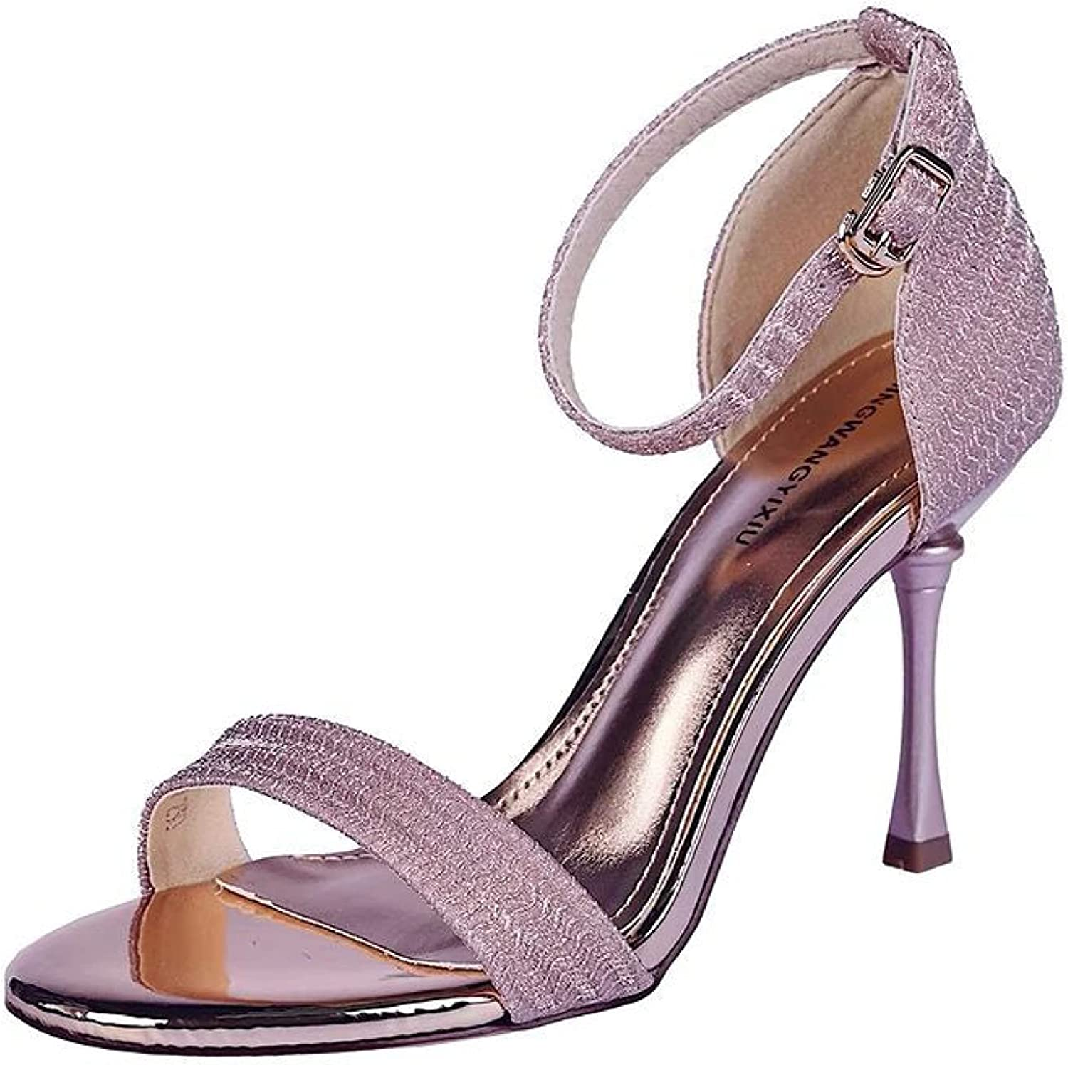 Woman Stiletto Very popular Heels Sandals Cozy Peep Dress Toe with Shoes Sexy Over item handling ☆
