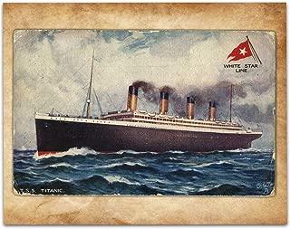 Vintage Titanic Postcard - 11x14 Unframed Art Print - Great Vintage Home Decor Under $15