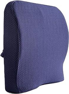 Almohada Lumbar, Soporte Lumbar Cojín De Espalda Ergonómica Espuma Viscoelástica Para Silla Coche Oficina En Casa Dolor Y Corrección Postura Aliviar La Ciática(Color:Azul)