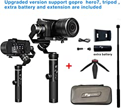 Feiyu G6 Plus 3-Axis Brushless Handheld Gimbal Stabilizer Splash-Proof 800g Payload 12 Hours Running Time for Smartphone,Action Camera Gopro,Digital Cameras,with Tripod,Extension Rod and Phone Holder