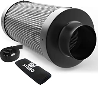 G-HYDRO 6 Inch Air Carbon Filter with Australia Virgin Activated Charcoal Prefilter Included Odor Control Scrubber for Gro...