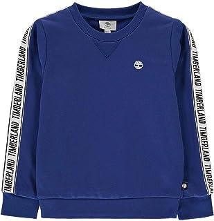 Timberland T45812 - Sudadera para niño, cuello redondo, color azul