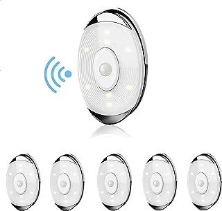 Lightess Lampes de Placard LED 6 Pack Lampe Détecteur de Mouvement Intérieur sans fil Spot Led Pile Éclairage Sous Meuble ...
