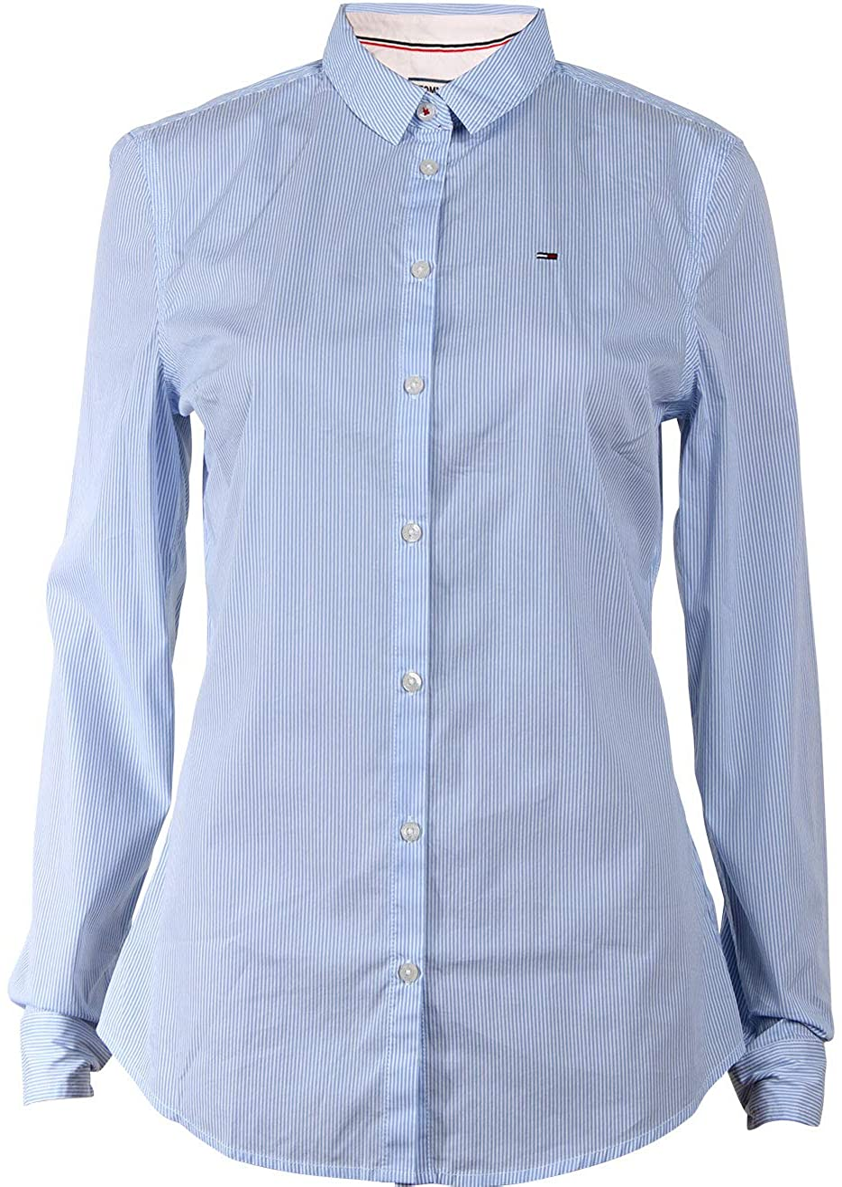 Tommy Hilfiger Original Stripe Stretch Blusa para Mujer