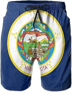 Bandera de Minnesota, Hombres relajados, Verano, Surf, bañadores de Secado rápido, Pantalones Cortos de Playa, Pantalones ...