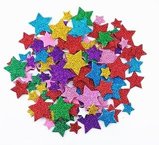 Honbay 200pcs Colorful Self Adhesive Star Shape Foam Glitter Stickers