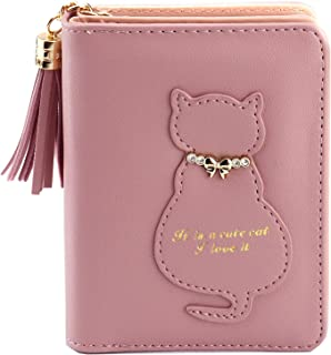Kinsoland Wallets for Women Faux Leather Card Holder Girls Coin Purse