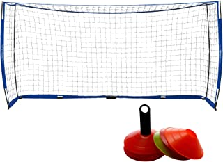 Pinty 12x6ft Soccer Goal, Knotless Kids' Soccer Net with...