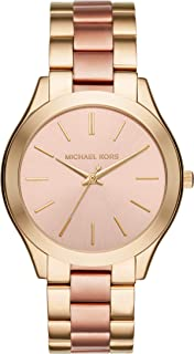 Michael Kors Women's MK3493 Slim Runway Gold-Tone Watch