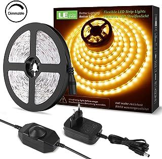 LE LED Luces de Tiras Regulables, 5M 1200lm, Blanco Cálido
