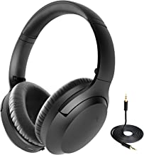 2020 Avantree Aria Bluetooth Active Noise Cancelling Headphones with Mic, Good Sound, Replaceable Ear Pads, Spacious, 35H Wireless Wired ANC Over Ear Headset for Airplain Travel
