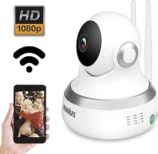 WIMIUS ネットワークカメラ 1080P フルHD 200万画素WIFI スピーカー マイク内臓 暗視撮影 防犯 ペット 子供 見守り IPカメラ スマホ パソコン対応
