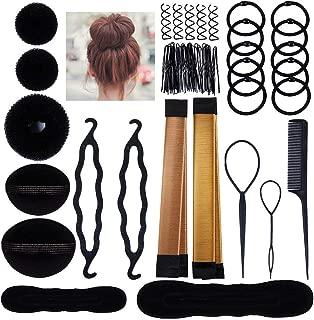 Hair Styling Bun Maker Accessories Set, Accessory for Styling Hair Band Fashion DIY Fast Bun French Braids Ponytails Maker Hair Elastics Modelling Braiding Tool Kit