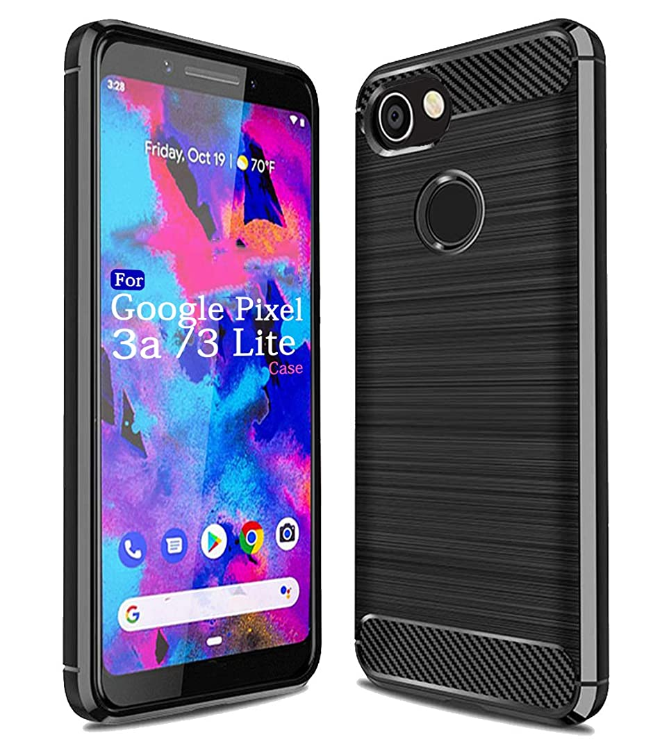 Pixel 3a Case,Google Pixel 3 Lite,Sucnakp TPU Shock Absorption Cell Phone Cases Technology Raised Bezels Protective Cover for Pixel 3 a Phone (Black)