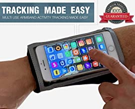 Cell Phone Armband for Running – Water Resistant Case for iPhone 11 Pro X 8 7 Galaxy S10 S9 Android – Zip Pocket Key Holder, Full Touch Screen and Earphone Access – Wristband Stretches to Fit Forearm