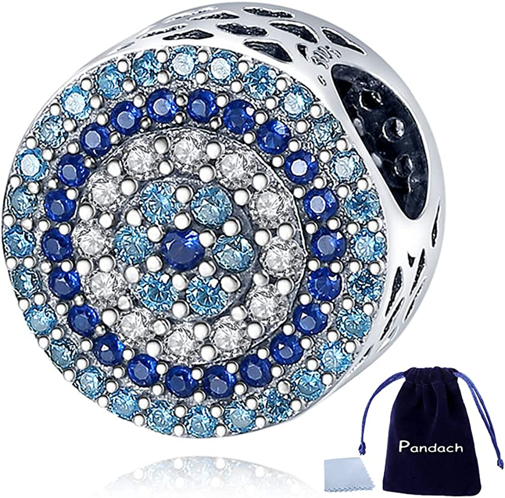 Pandach Crystal Evil Eye Quality inspection Bead Charm Bra Charms Fixed price for sale fits Lucky