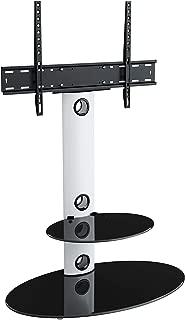 Support TV de Plancher roulettes avec 2 /Étag/ères de Rangement Support TV sur Pied Charge 80kg VESA 800x600mm Hauteur R/églable UNHO Meuble TV avec Support pour /Écrans de 32-100 Pouces