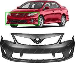 MBI AUTO - Primered, Front Bumper Cover Fascia for 2011-2013 Toyota Corolla S/XRS 11-13, TO1000373